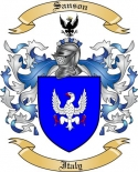 Sanson Family Coat of Arms from Italy