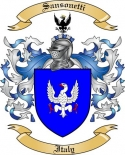 Sansonetti Family Crest from Italy