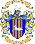 Santaniello Family Crest from Italy