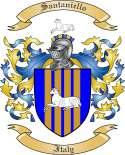 Santaniello Family Crest from Italy