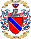 Santano Family Coat of Arms from Spain