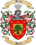 Santo Family Coat of Arms from Spain