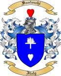 Santocchi Family Crest from Italy