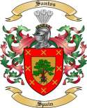 Santos Family Coat of Arms from Spain