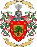 Sants Family Crest from Spain