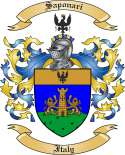 Saponari Family Crest from Italy