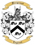 Sargaunt Family Crest from England