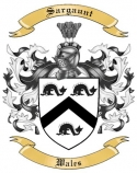 Sargaunt Family Crest from Wales
