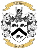 Sargeant Family Crest from England