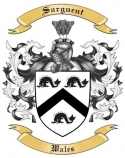 Sarguent Family Coat of Arms from Wales