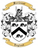 Sarjeant Family Coat of Arms from England