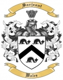 Sarjeant Family Coat of Arms from Wales