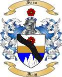 Saso Family Coat of Arms from Italy