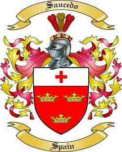 Saucedo Family Crest from Spain