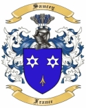 Saucey Family Coat of Arms from France