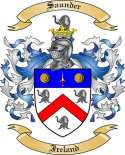 Saunder Family Crest from Ireland