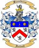 Saunderrs Family Coat of Arms from Ireland