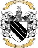 Saunderson Family Coat of Arms from Scotland