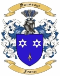 Saussaye Family Coat of Arms from France