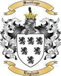 Sauvage Family Coat of Arms from England