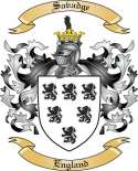 Savadge Family Coat of Arms from England