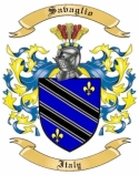 Savaglio Family Crest from Italy
