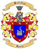 Savedra Family Crest from Spain