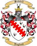 Sawtell Family Coat of Arms from England