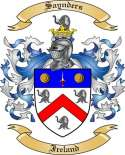 Saynders Family Coat of Arms from Ireland