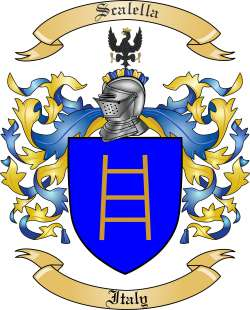Scalella Family Crest from Italy
