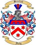 Scarlati Family Crest from Italy