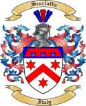 Scarlattu Family Crest from Italy