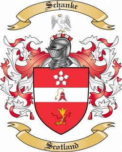 Schanke Family Coat of Arms from Scotland