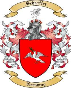 Scheaffer Family Crest from Germany