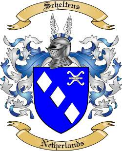 Scheltens Family Crest from Netherlands