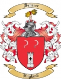 Scherer Family Coat of Arms from England
