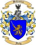 Schiavini Family Crest from Italy