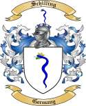 Schilling Family Crest from Germany