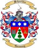 Schneider Family Coat of Arms from Germany3