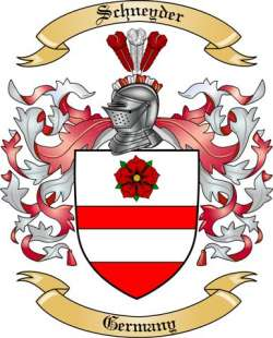 Schneyder Family Crest from Germany