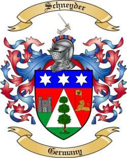 Schneyder Family Crest from Germany3