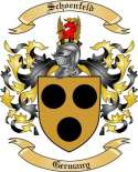 Schoenfeld Family Crest from Germany