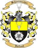 Schoenmacher Family Crest from Holland