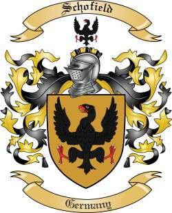 Schofield Family Crest From Germany By The Tree Maker