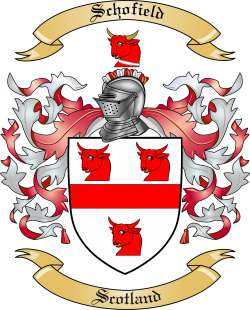Schofield Family Crest From Scotland By The Tree Maker