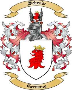 Schrade Family Crest from Germany