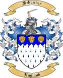 Schreiver Family Crest from England
