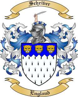 Schriver Family Coat of Arms from England