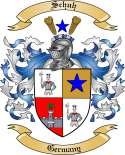 Schuh Family Coat of Arms from Germany