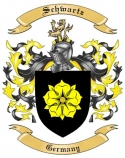 Schwartz Family Crest from Germany